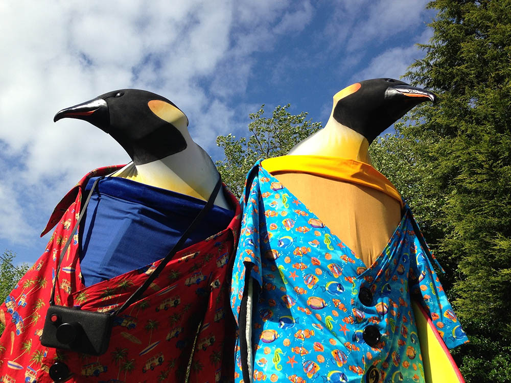 Penguin holiday costume act