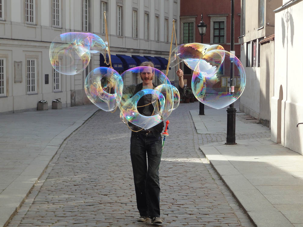 Bubbles street performer