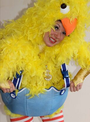 Funny easter chick act