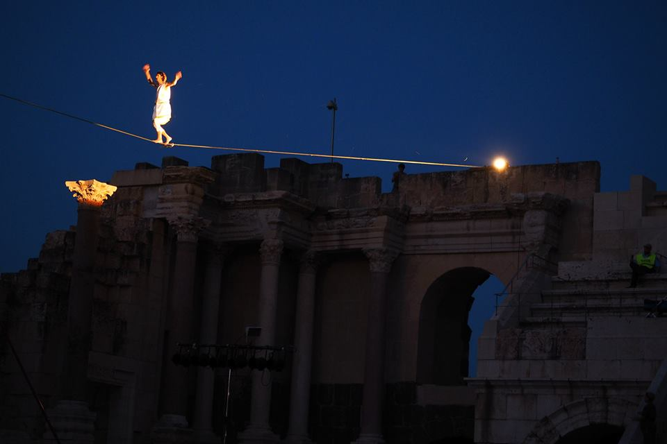circus, tightrope, street, theatre, show, dangerous, shock, wow, sky