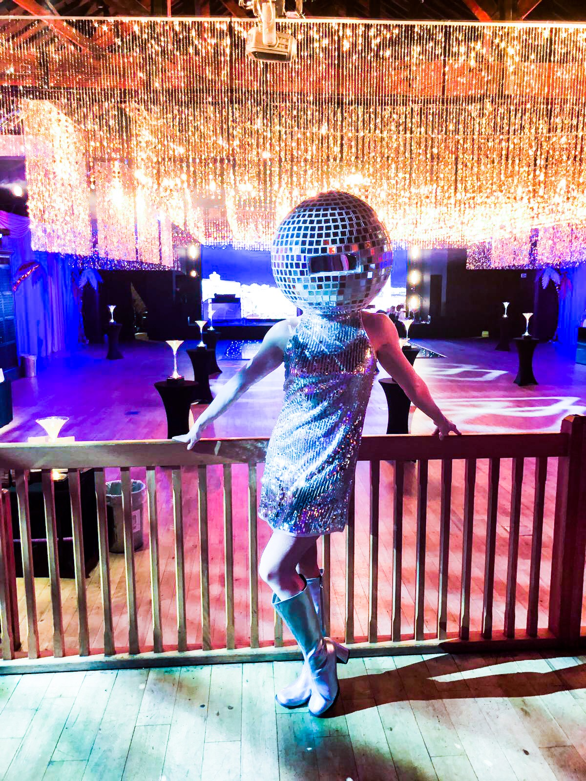 Disco, 70s, 80s, dance, disco ball, nightclub, party, walkabout, silver